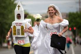 running bride costume